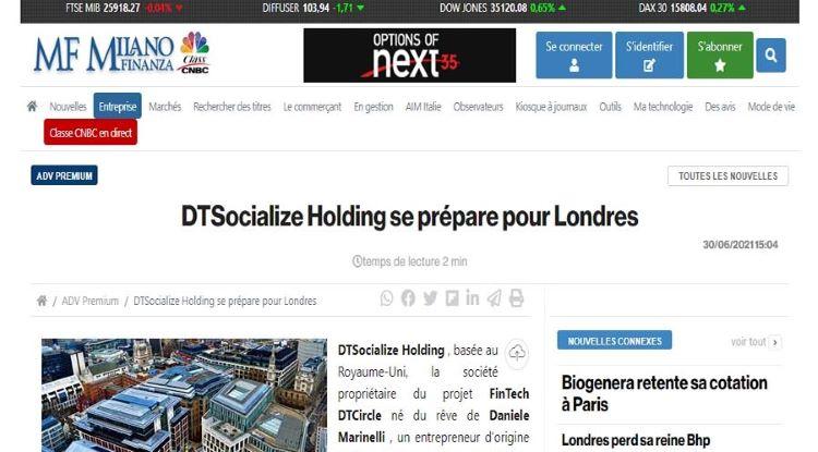 La Holding DTSocialize va prochainement entrer en Bourse de Londres.
